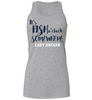 """It's Fish O'Clock Somewhere"" Flowy Racerback Tank - Lady Angler Co"