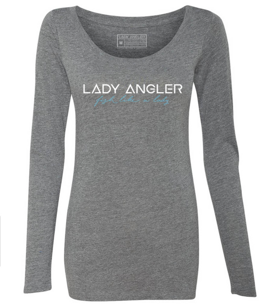 Signature Lady Angler Tri-blend LS Scoop Tee - Lady Angler Co