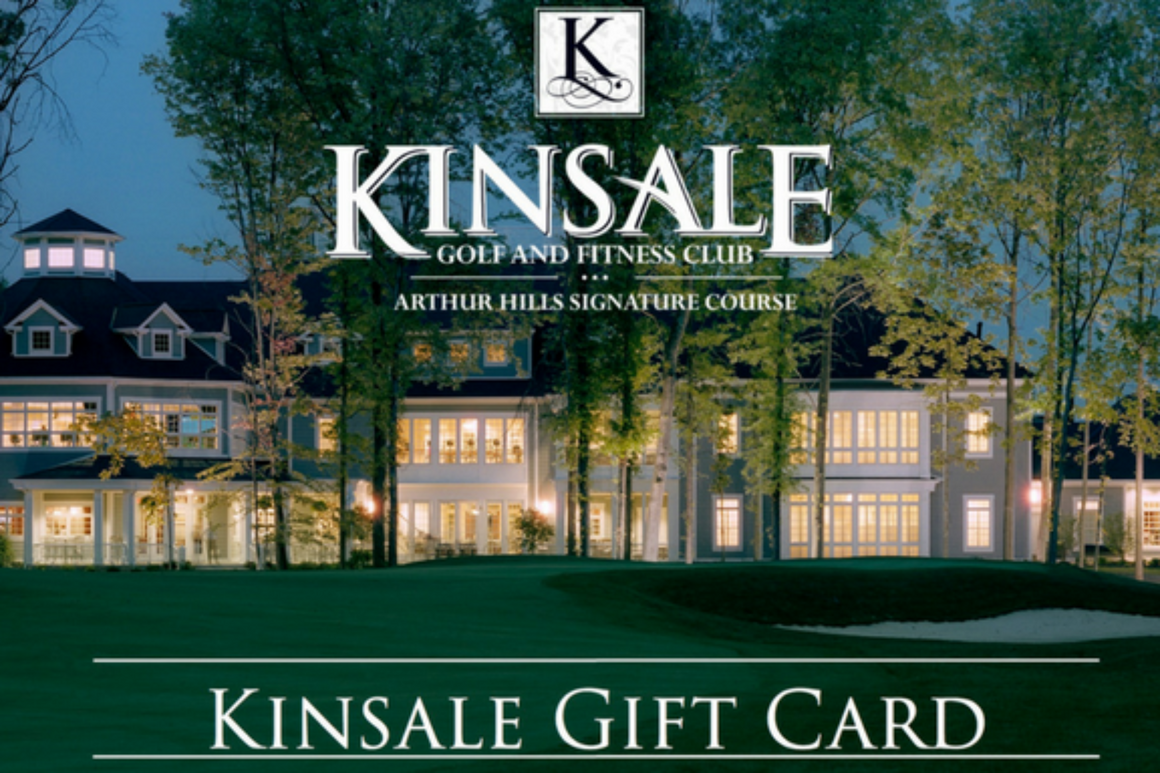 Kinsale Golf and Fitness Gift Card- Used in either The Spa or The Signature Shop