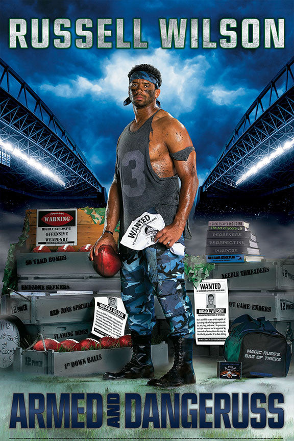 Russell Wilson: Aremd & Dangeruss Poster by The Costacos Brothers