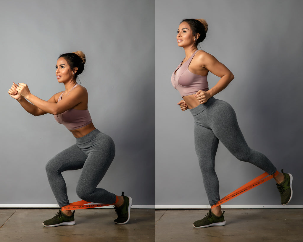split squat resistance bands booty workout