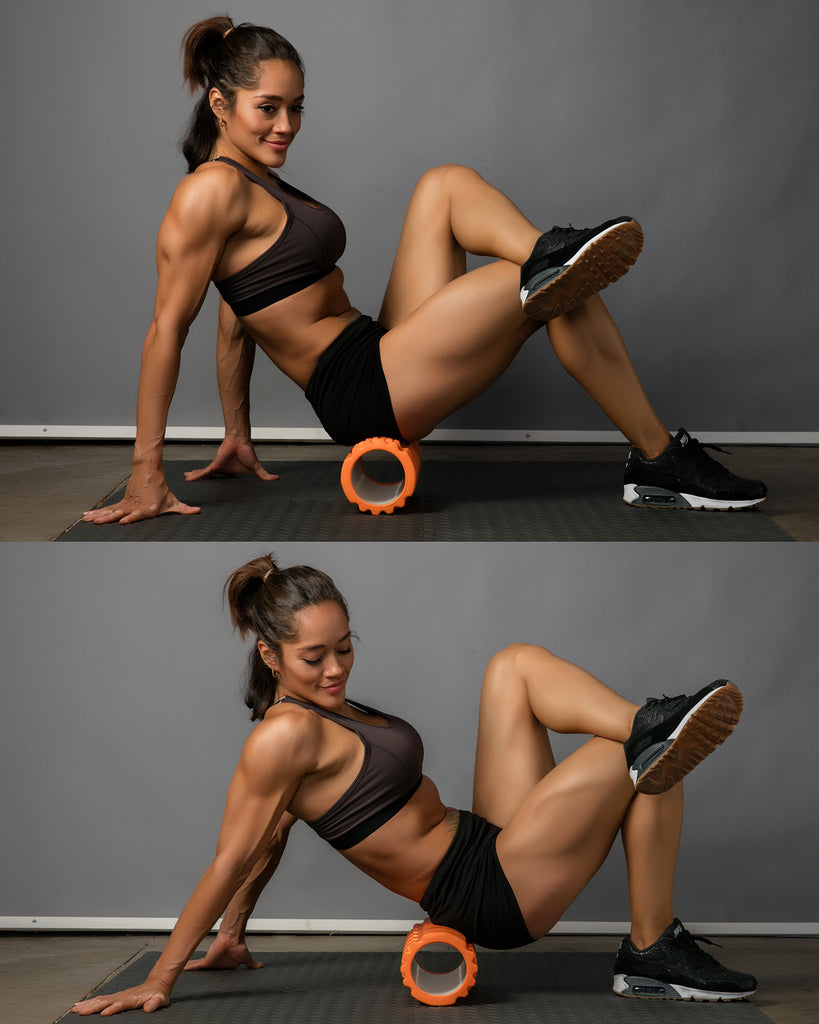 glutes roll foam roller exercise