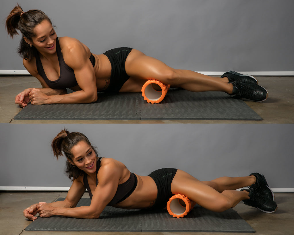 groin roll foam roller exercise