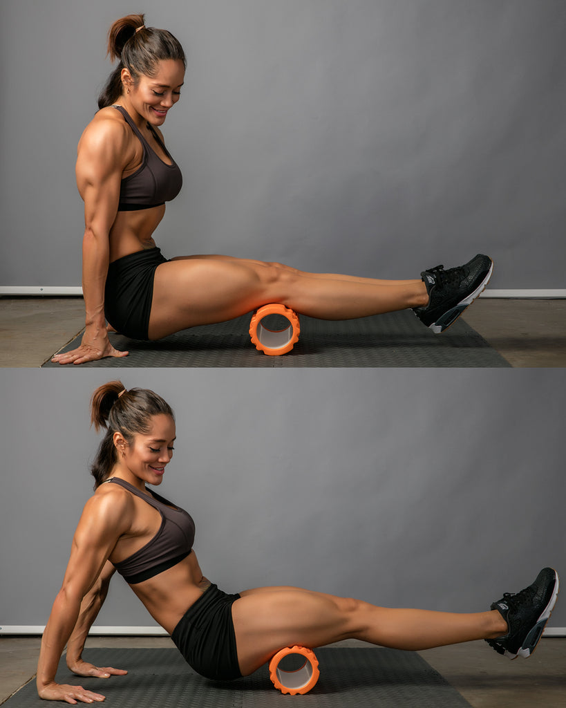 hamstring roll foam roller exercise