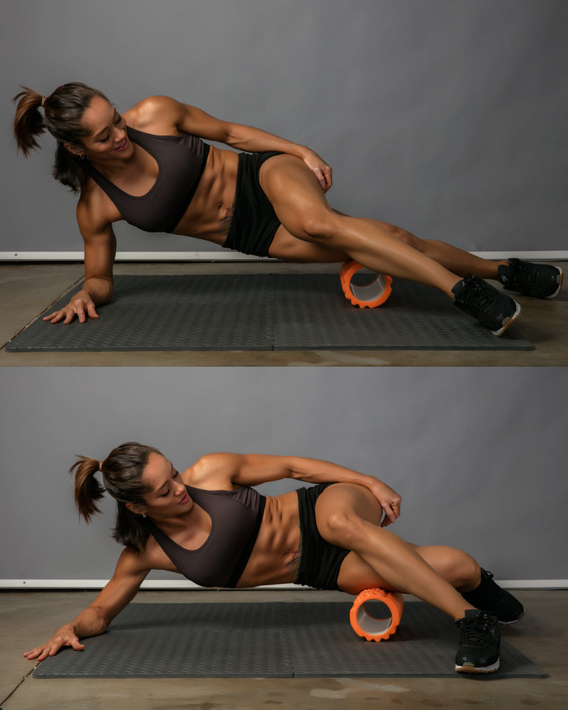 it band roll foam roller exercise