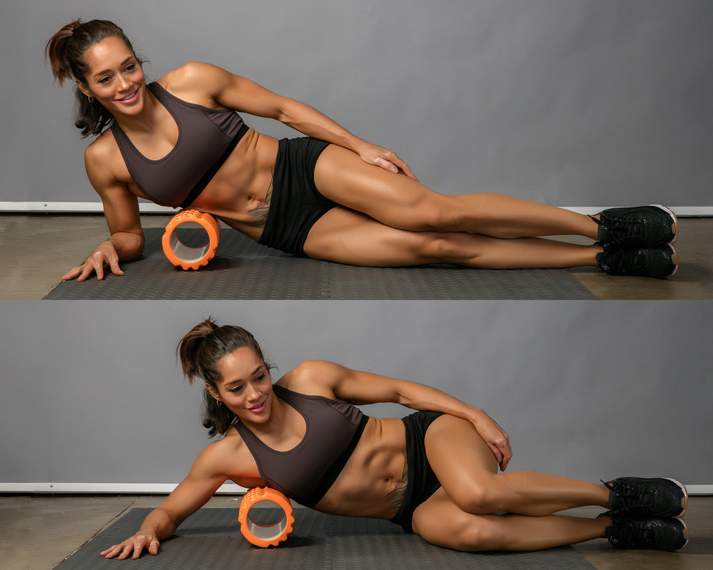 lats roll foam roller exercise