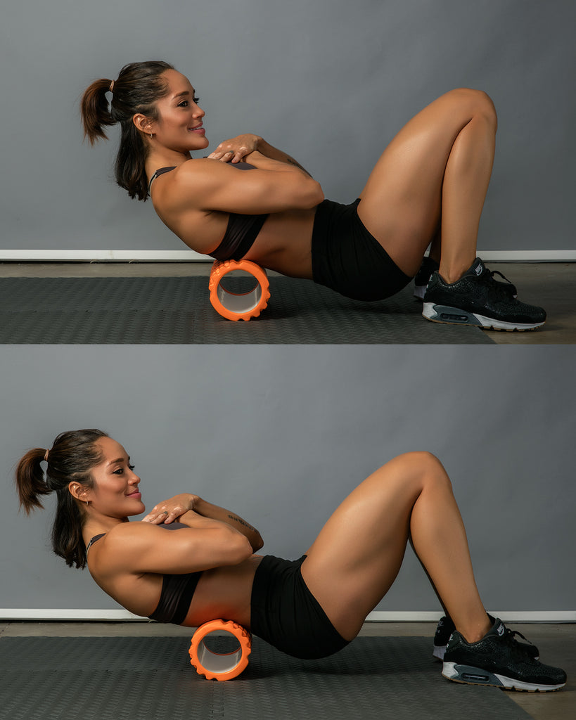 lower back roll foam roller exercise