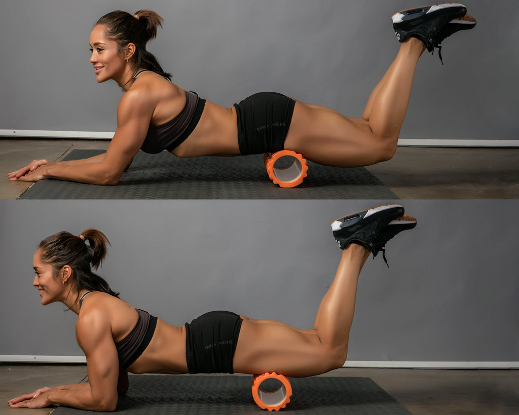 quads roll foam roller exercise