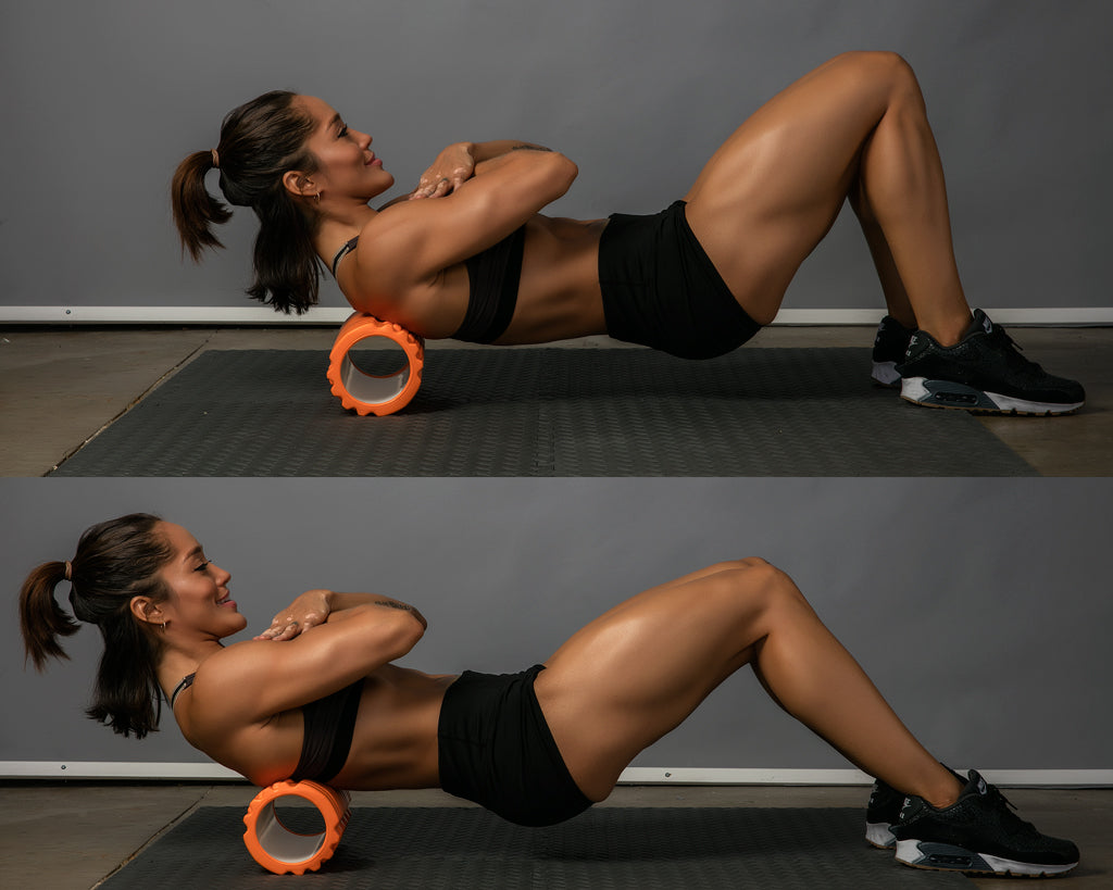 upper back roll foam roller exercise