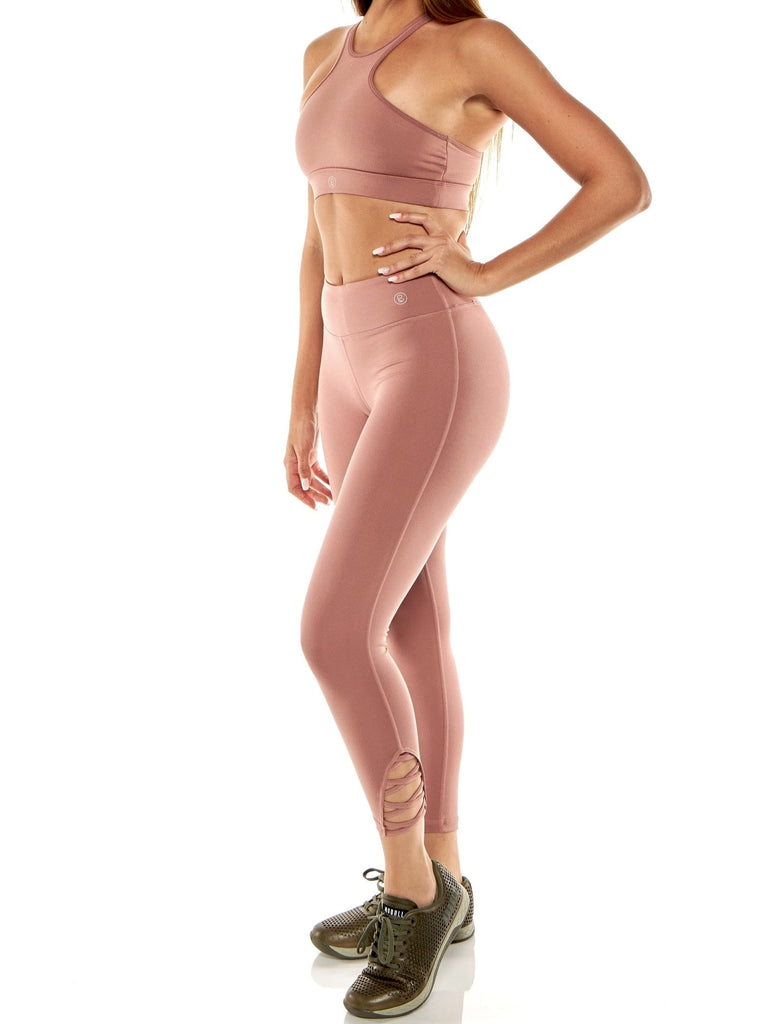 Blush Strapped Legging