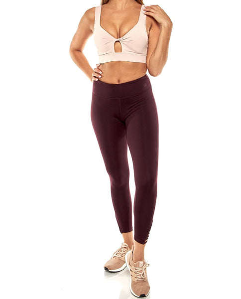 Burgundy Strapped Legging