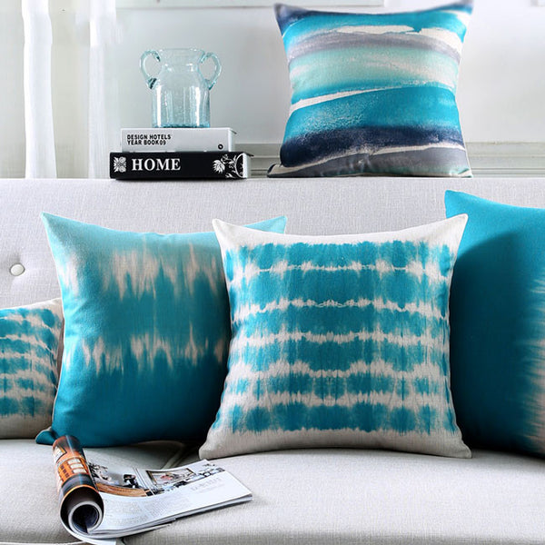Buy the Oceana Cool Blue Cushion Covers by Cushions Int.