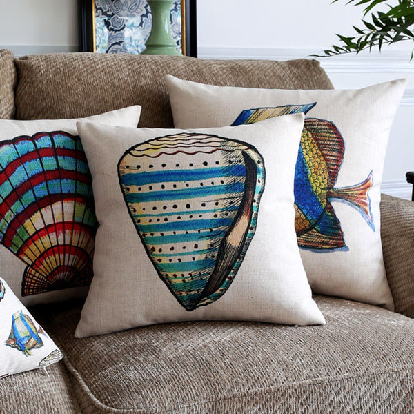 Angelfish & Seashell Cushion Covers by Cushions Int.
