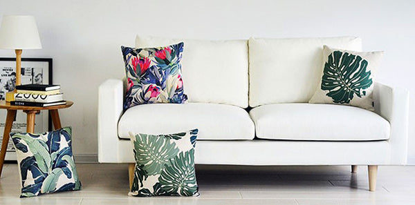 Waratah Plant Throw Cushion Covers by Cushions Int.