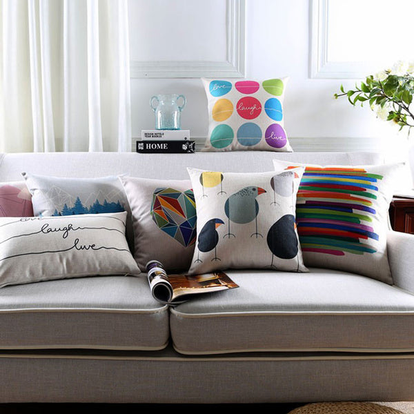 Buy the Rainbow Grooves Cushion Covers by Cushions Int.