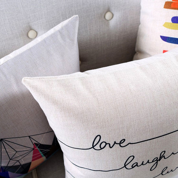 Rainbow Grooves Cushion Covers by Cushions Int.