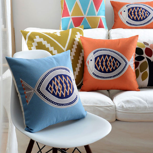 Buy the Sunny Coastal Breeze Cushion Covers by Cushions Int.