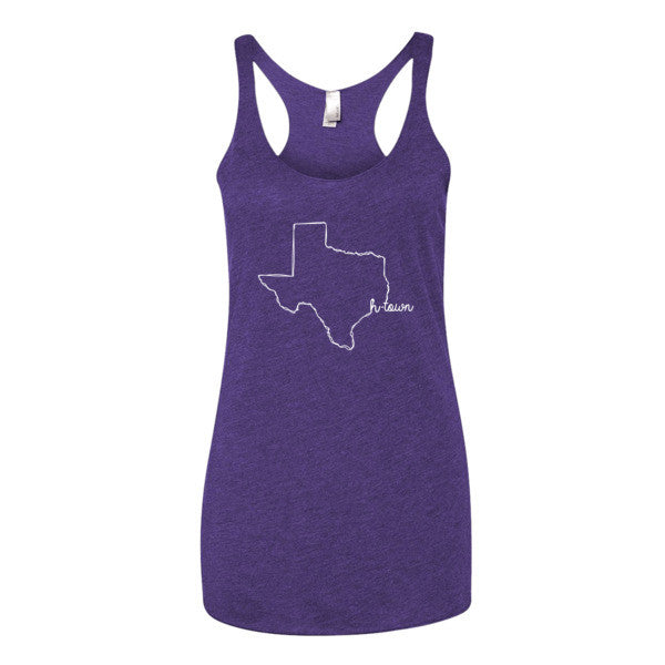 H-Town is Home Texas Scribble - Women's tank top