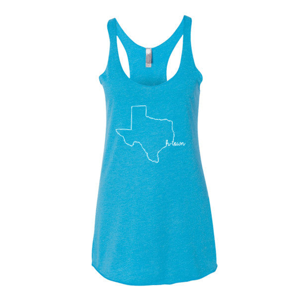 H-Town is Home Texas Scribble - Women's tank top - iRepTheH