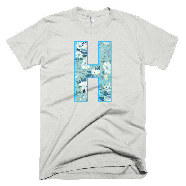 Floral H - Short sleeve men's t-shirt - iRepTheH