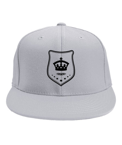 White Snapback Black Shield