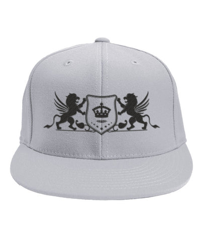 White Snapback Black True King Logo
