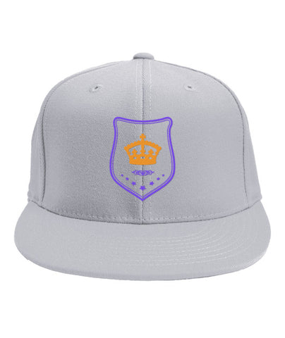 White Snapback Orange and Purple Shield