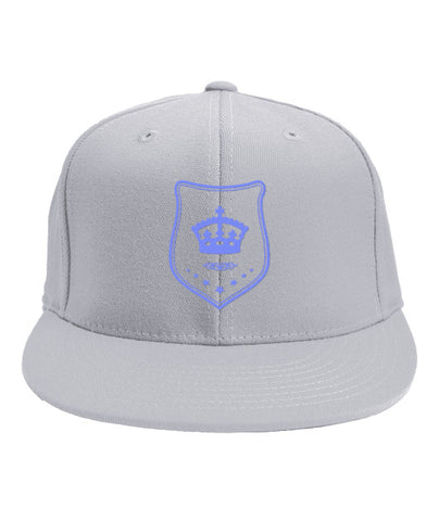 White Snapback Baby Blue Shield