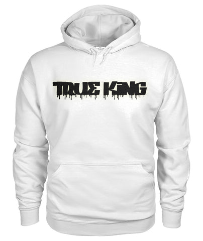 True King Drip Black Logo on Back  Gildan Hoodie