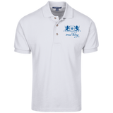 Cotton Pique Knit Polo Blue