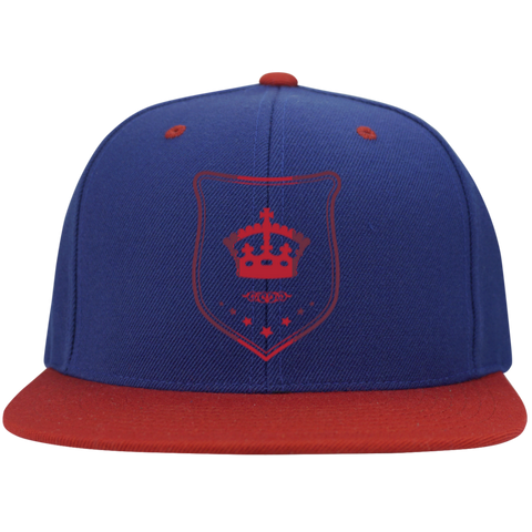Flat Bill High-Profile Snapback Hat