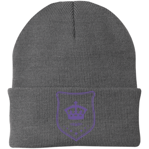 One Size Fits Most Knit Cap Purple Shield/Different Colors