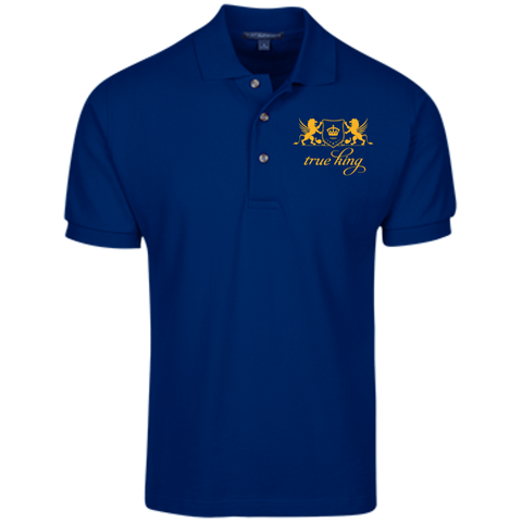 Cotton Pique Knit Polo Gold