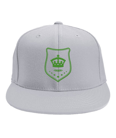 White Snapback Green Shield