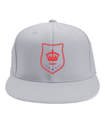 White Snapback Red and Blue Shield