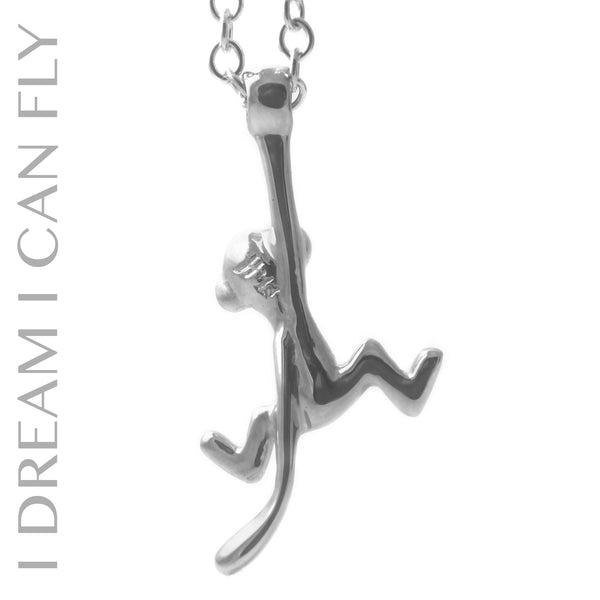 Monkey necklace in sterling silver