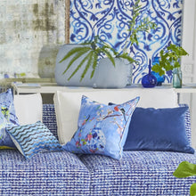 Load image into Gallery viewer, Cassia Indigo Decorative Pillow