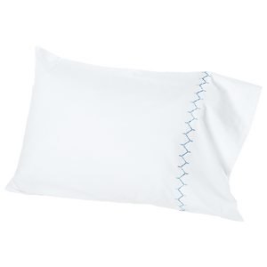 Stitched Light Indigo Pillowcase (Pair)
