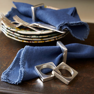 Silver-Plated Modernist Napkin Rings (Set of 2)