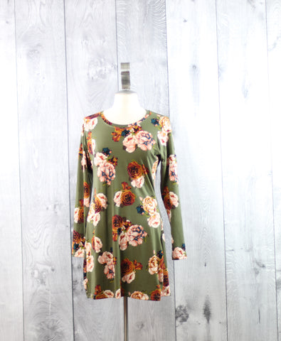 Floral Dolman Dress | Size Medium