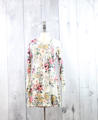 Floral Dolman Dress | Size Large