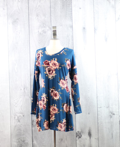 Floral Dolman Dress | Size XL