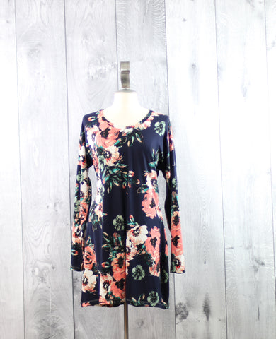 Floral Dolman Dress | Size 1X