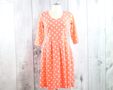 Pleated Polka Dot Dress | Size L