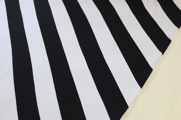 B&W Diagonal Stripe Cotton Spandex