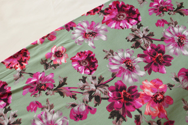 Fall Floral Double Brushed Poly