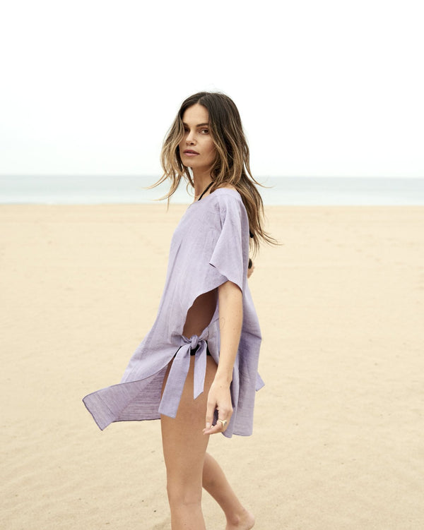 Aruna Side Tie Cover Up - Violet