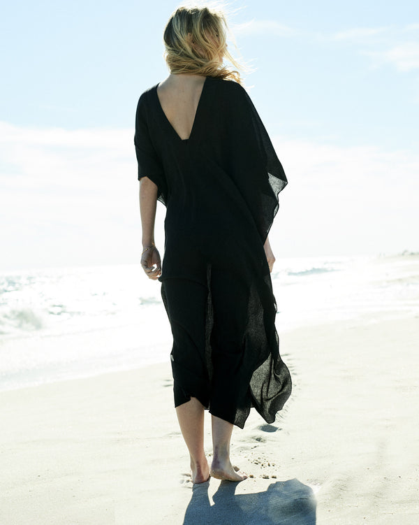 long caftan hand-woven cotton caftan Caftan beachside separates resort wear collection