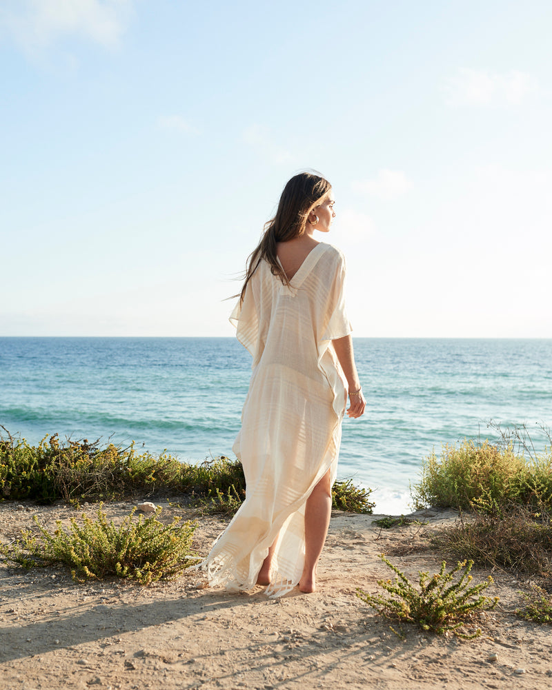 vacation wear free-spirited clothing leisurewear neutral colors ethically crafted