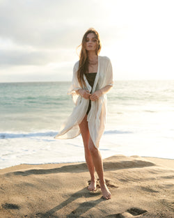 off-white beach cover-up beachwear  handcrafted beachwear  beachside separates resort wear collection